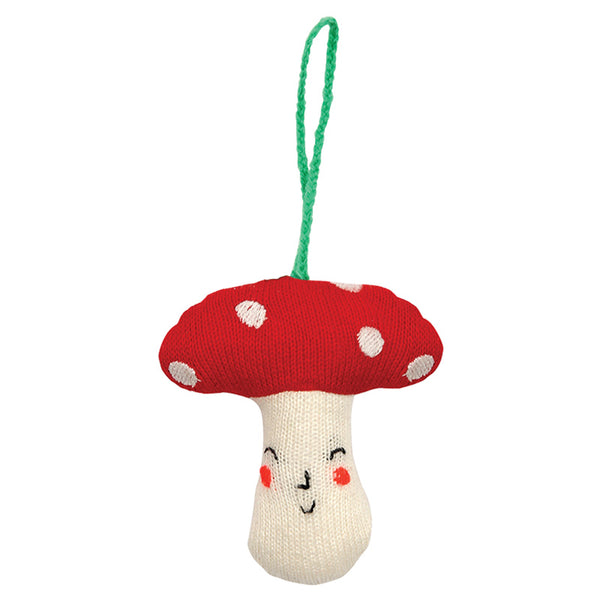 Knitted Mushroom Decoration