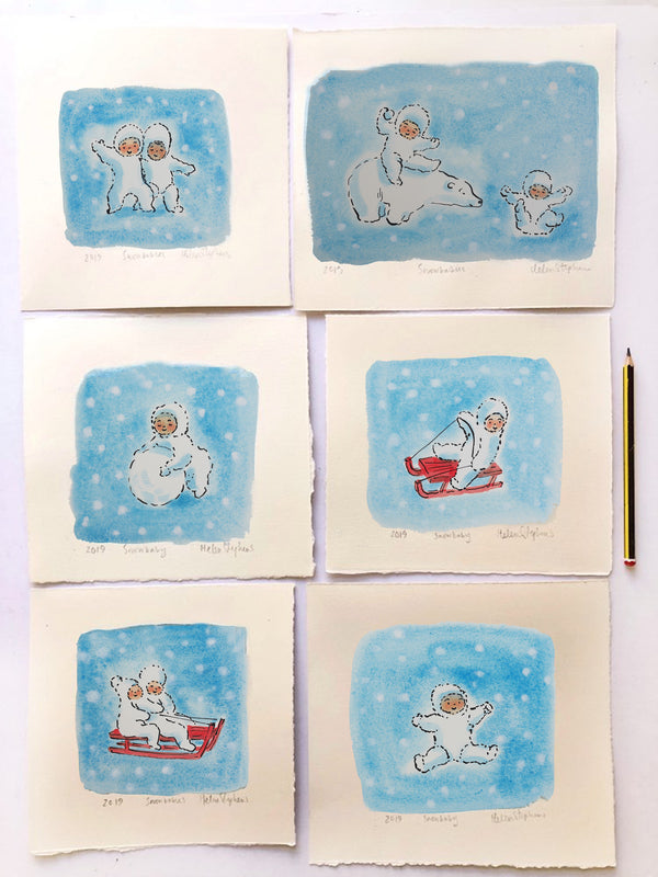 Snow Babies - Original Artwork by Helen Stephens