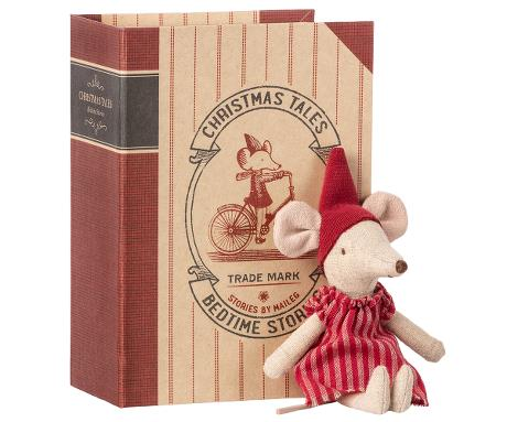 Maileg Christmas Mouse in a Book - Big Sister