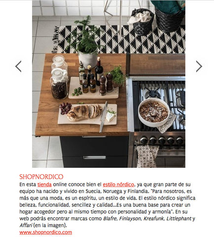 Shopnordico en la revista MiCasa