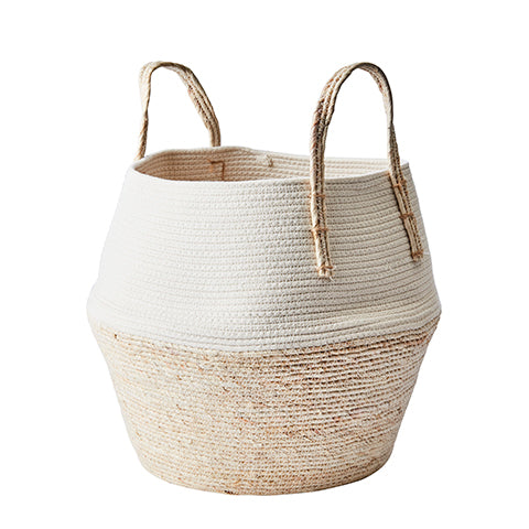 "Cesta natural/blanco ""COLLECT"" L"