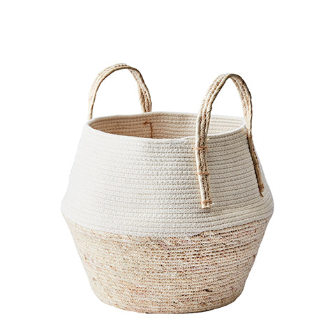 "Cesta natural/blanco ""COLLECT"" M"