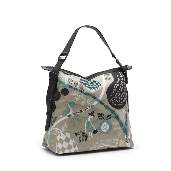 Bolso Messenger Fruitgarden, gris