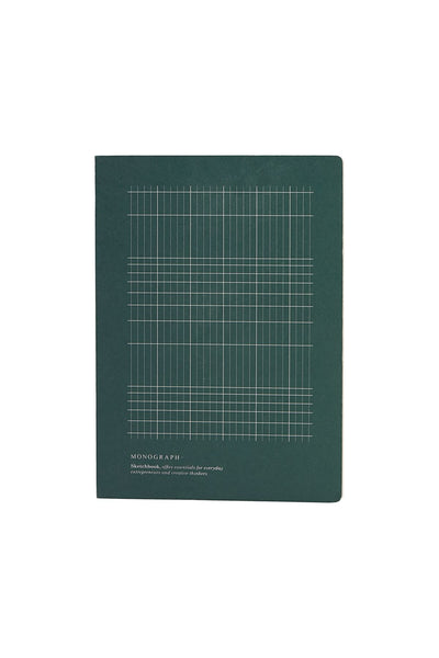 Cuaderno Geometric verde oscuro