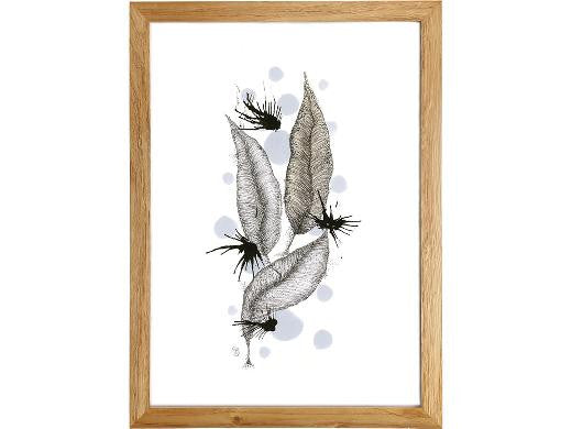 "Cuadro ""Snow & Feathers"""