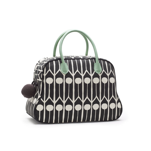 Day bag Feathers-Negro/Blanco