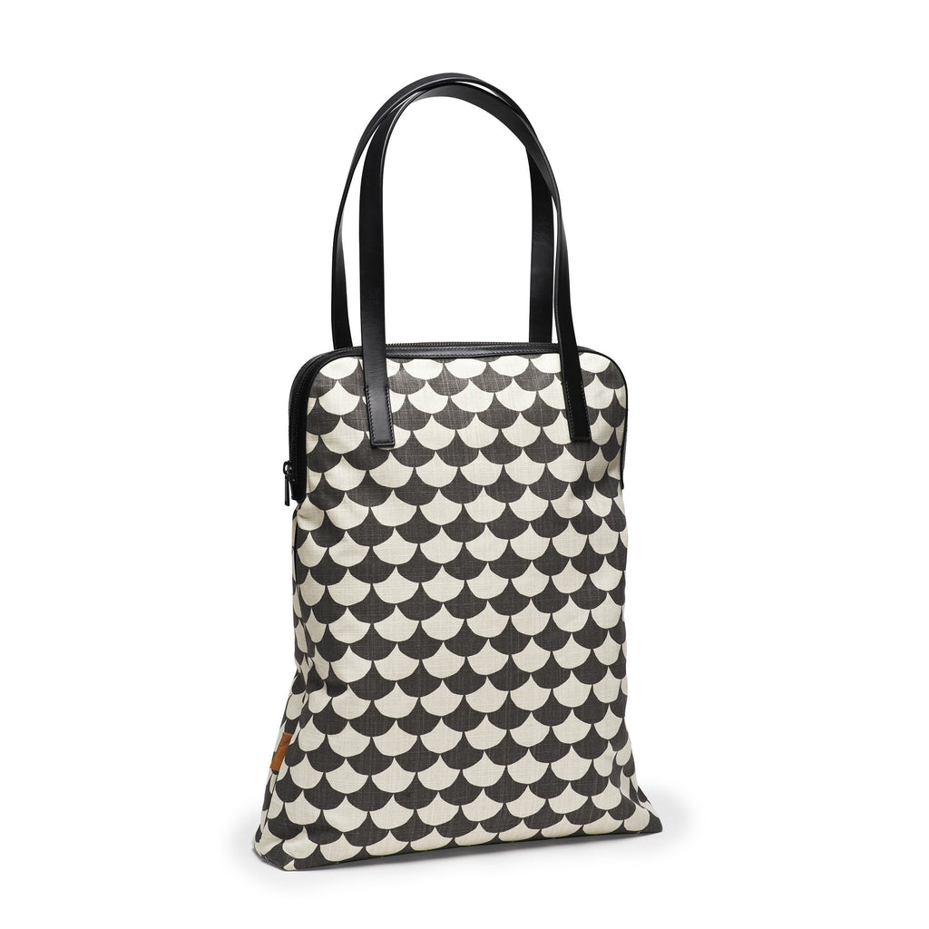 Bolso Shopper Waves-Negro/Gris