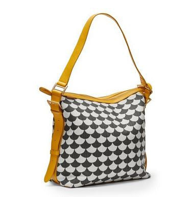 Bolso Small Waves, Negro / Gris
