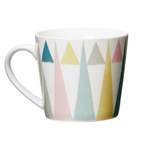 "Taza grande ""Triangle"" blanco/multi"