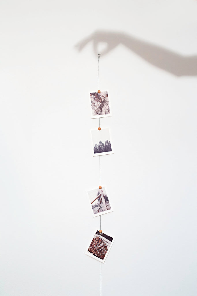 Cable Photo display. Soporte para colgar fotos.