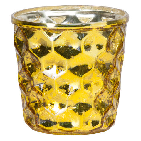 "Portavelas ""Shine"" amarillo de Affari en Shopnordico"