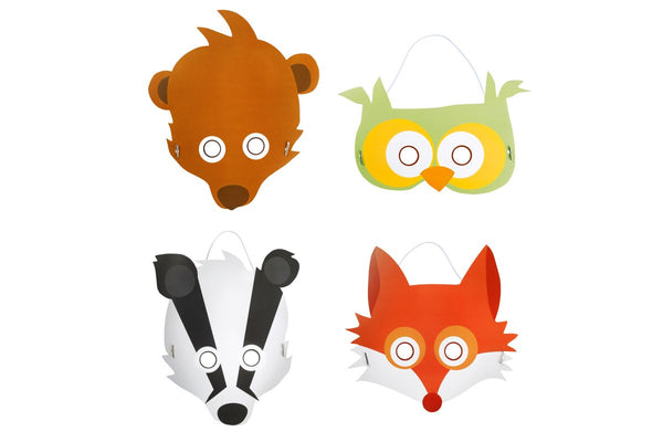Set de 8 máscaras de animales en Shopnordico