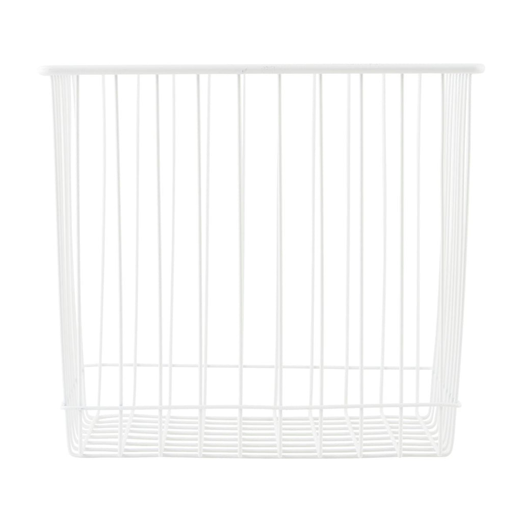Cesta metal blanca house doctor 1