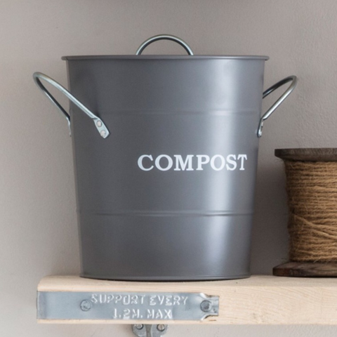 Compost Bucket in Charcoal