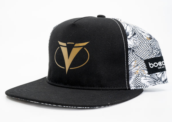 Ventum Kona Limited Edition Flat Bill Hat - White Floral Edition