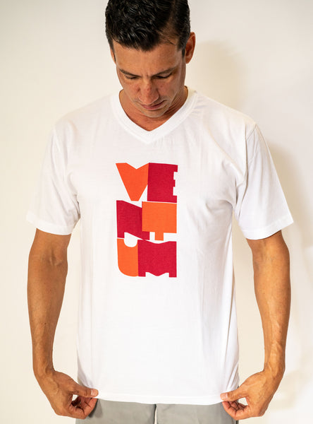 Men's Orange Block Art T-Shirt