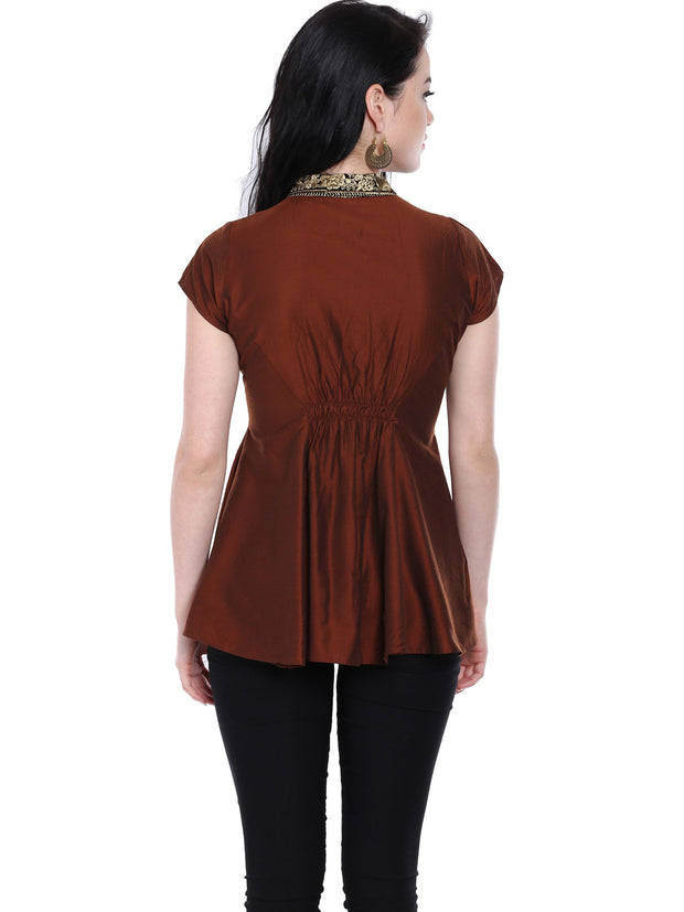 Ira Soleil Cap sleeves top with zipper - Ira Soleil