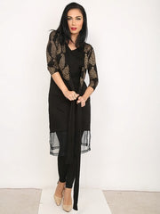 A set of inner & block printed stretchable kurti - Ira Soleil