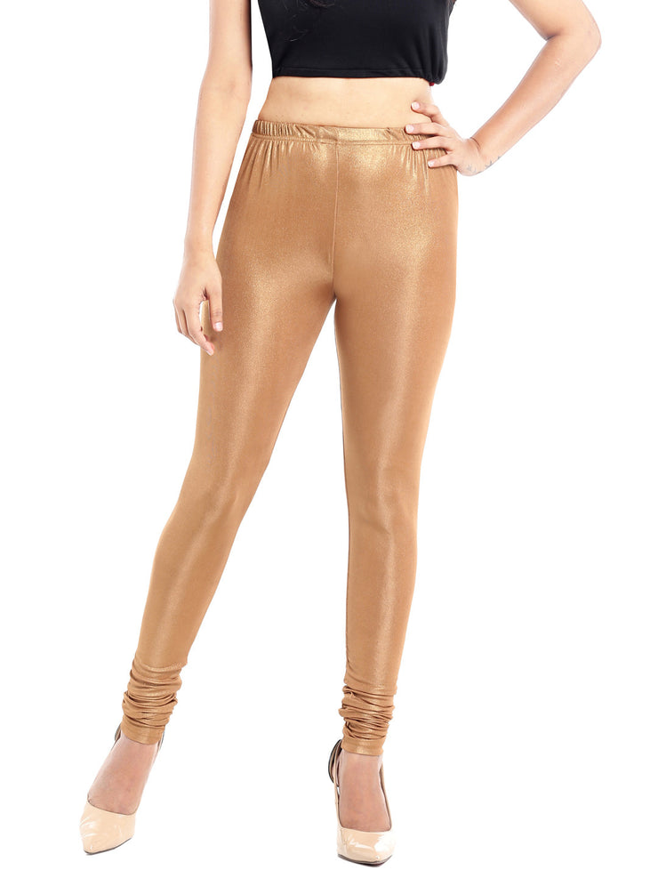 Ira Soleil Gold Legging with Shimmer Fabric - Ira Soleil