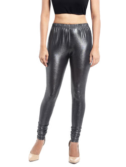 Ira Soleil Silver Legging with Shimmer Fabric