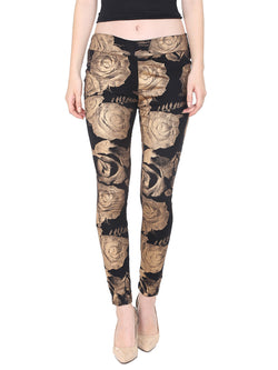 Ira Soleil all over floral print pant made with polyester lycra fabric