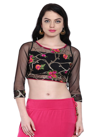 ira-soleil-black-saree-blouse-made-with-embroidered-lace