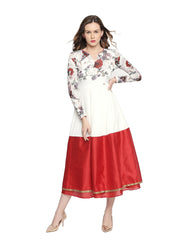 Digital floral Printed Viscose stretchable Kurta - Ira Soleil