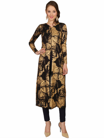ira-soleil-black-block-printed-all-over-printed-viscose-knitted-stretchable-long-sleeves-womens-long-jacket