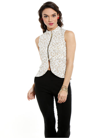 ira-soleil-whiite-waistline-jacket-with-gold-tinsel-print-made-of-polyester-lycra