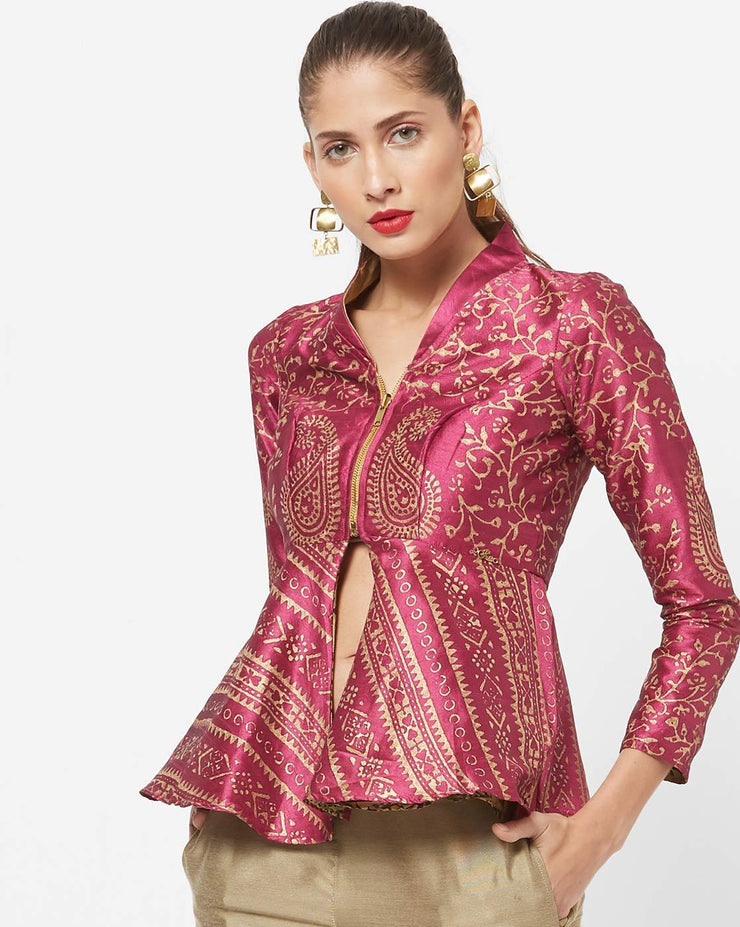 New Pink and Gold Reversible Jacket - Ira Soleil