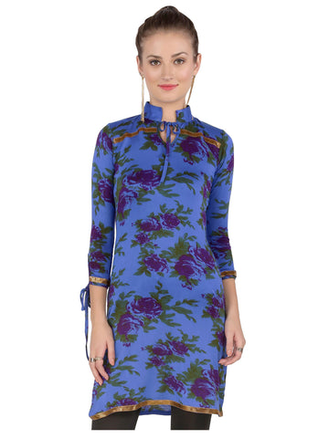 ira-soleil-blue-floral-all-over-printed-viscose-knitted-stretchable-3-4-sleeves-womens-short-kurti