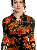 ira-soleil-viscose-strtched-all-over-flower-print-kurti-with-gold-lace