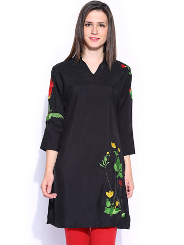 ira-soleil-womens-ethnic-black-polyester-with-embroidery-sleeve-kurta-kurti