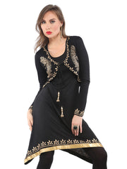 2pc set of black stretchable shrug & kurti - Ira Soleil