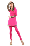 ira-soleil-pink-black-block-printed-viscose-knitted-stretchable-long-sleeves-womens-short-kurti