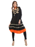 ira-soleil-black-viscose-knitted-stretchable-block-printed-long-sleeves-womens-anarkali-kurti