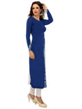 ira-soleil-blue-polyester-knitted-stretchable-georgette-diagonal-block-printed-long-sleevs-womens-long-kurti