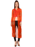 ira-soleil-3-peice-of-orange-kurti-block-printed-with-pink-inner-black-polyester-knitted-stretchable-trouser-set
