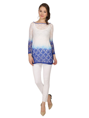 ira-soleil-2-peice-set-of-white-blue-dip-dyed-lace-long-sleeve-with-matching-viscose-knit-strech-inner-womens-short-kurti