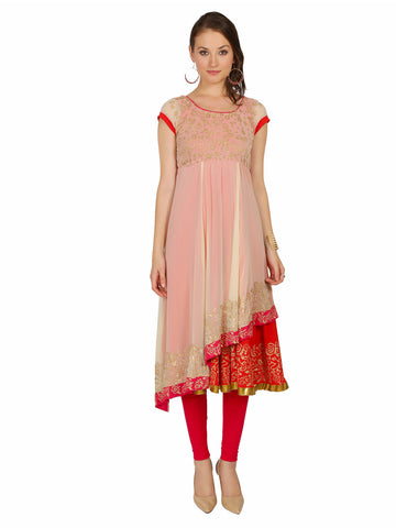 ira-soleil-cream-double-layered-anarkali-made-in-poly-chiffon-and-viscose-knit-strech-block-printed-cap-sleeves-womens-long-kurti