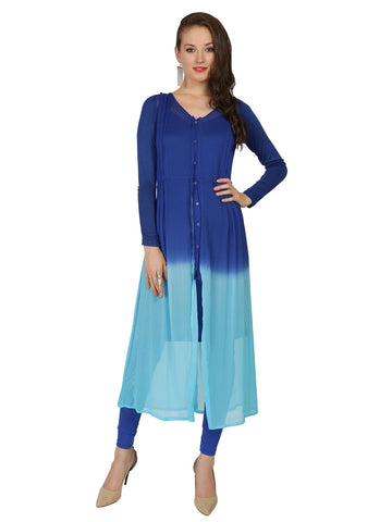 ira-soleil-blue-2pc-set-of-dip-dyed-poly-chiffon-with-viscose-knit-strech-jacket-with-matching-inner-womens-dress-kurti