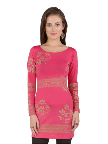 ira-soleil-pink-polyester-knitted-strechable-block-printed-long-sleeves-womens-dress-kurti