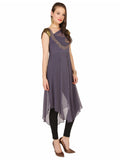 ira-soleil-3pcs-set-of-grey-chiffon-kurti-with-black-inner-and-legging
