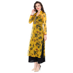 All over floral printed kurta - Ira Soleil
