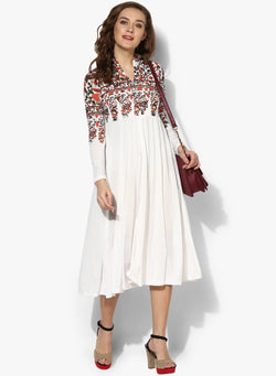 Ira Soleil Long Kurti with Multi coloured Print