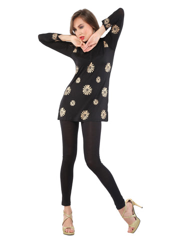 ira-soleil-viscose-knitted-women-black-printed-kurti