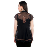 ira-soleil-black-block-printed-poly-chiffon-cap-sleeve-womens-top