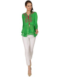 ira-soleil-green-viscose-knitted-strechable-printed-layered-long-sleeves-womens-peplum-top
