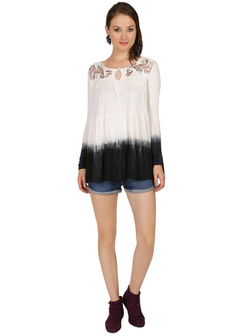ira-soleil-off-white-dip-dyed-viscose-knitted-strechable-printed-panelled-womens-top