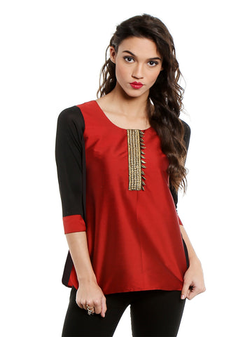 ira-soleil-maroon-top-with-embroidered-lace